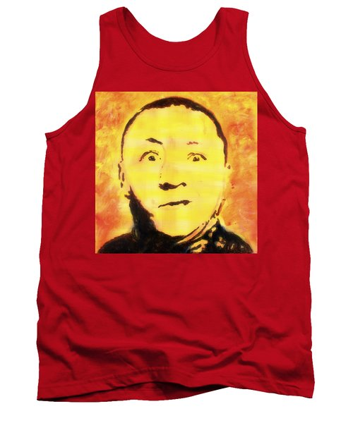 Tank Top featuring the painting Curly Howard Three Stooges Pop Art by Bob Baker