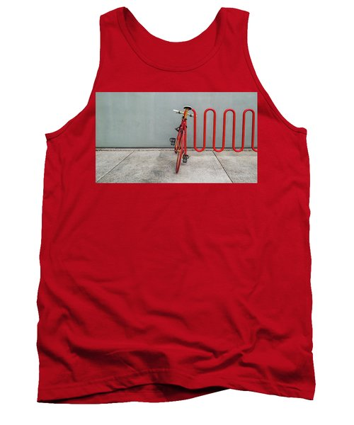 Curved Rack In Red - Urban Parking Stalls Tank Top