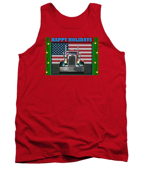 Tank Top featuring the digital art Custom Pete Happy Holidays by Stuart Swartz