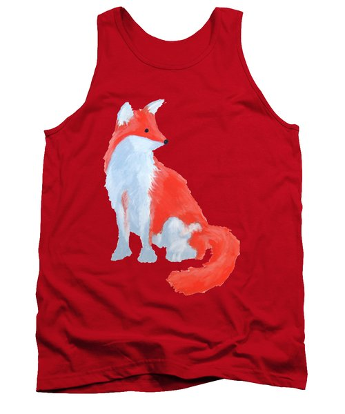 Cute Fox With Fluffy Tail Tank Top