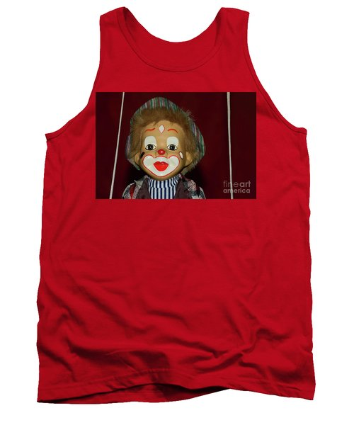 Tank Top featuring the photograph Cute Little Clown By Kaye Menner by Kaye Menner