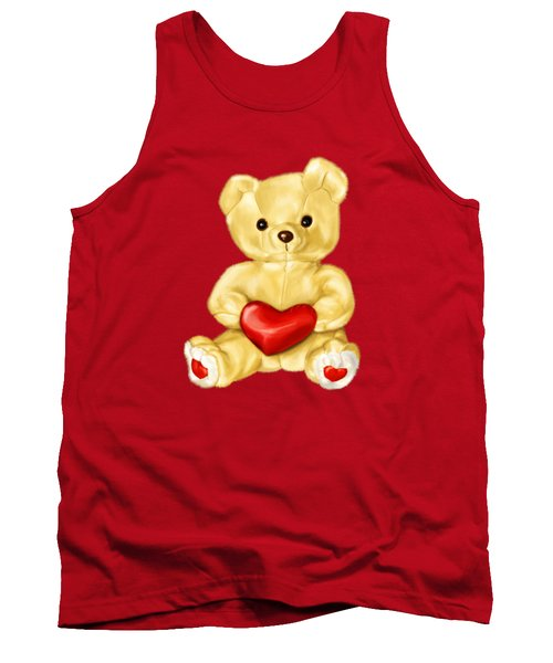Cute Teddy Bear Hypnotist Tank Top by Boriana Giormova