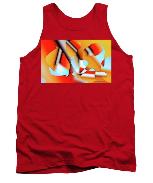 Tank Top featuring the digital art Cutouts by Ron Bissett