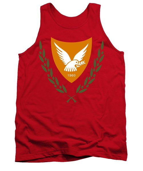 Tank Top featuring the drawing Cyprus Coat Of Arms by Movie Poster Prints