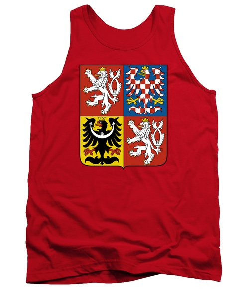 Tank Top featuring the drawing Czech Republic Coat Of Arms by Movie Poster Prints