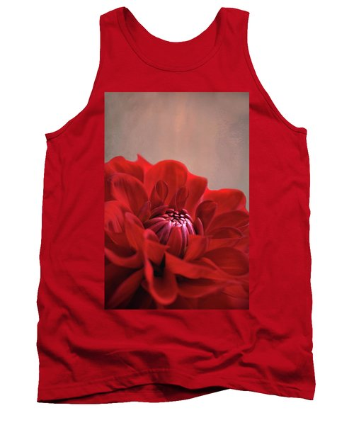 Dahlia Dalliance  Tank Top by Marion Cullen