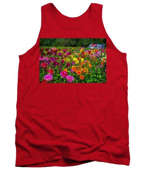 Dahlia Garden Oregon Tank Top