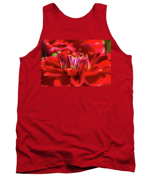 Dahlia Study 1 Painterly Tank Top