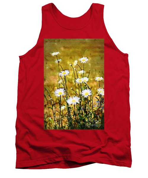 Tank Top featuring the photograph Daisy Field by Donna Bentley