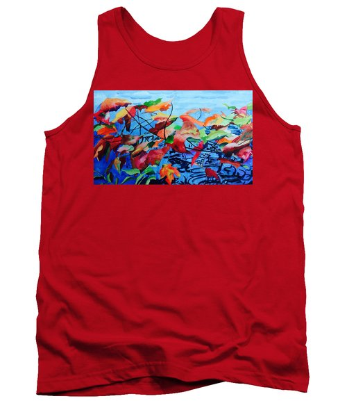 Tank Top featuring the painting Dancing Over Water by Patti Ferron