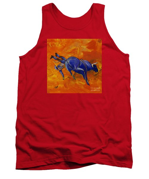 Tank Top featuring the painting Danny At The Rodeo by Janice Rae Pariza