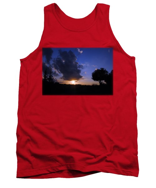 Dark Sunset T-shirt 2 Tank Top by Isam Awad