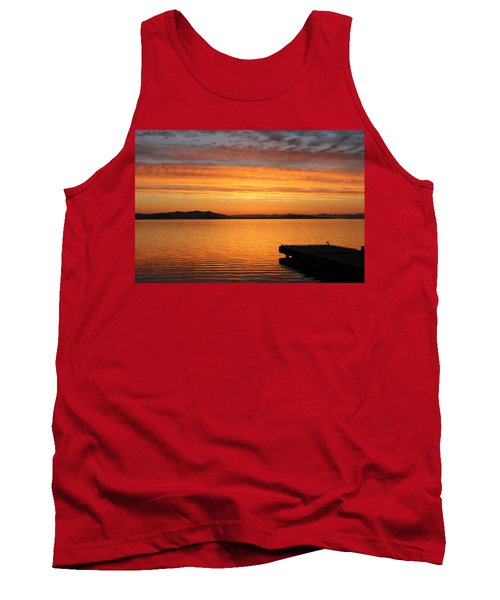 Dawn In The Sky At Dusavik Tank Top