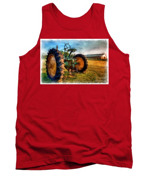 Day Is Done Watercolor Tank Top