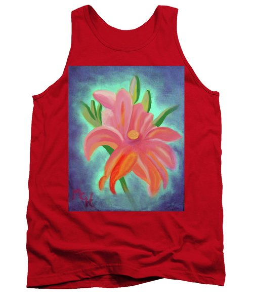 Tank Top featuring the painting Daylily At Dusk by Margaret Harmon
