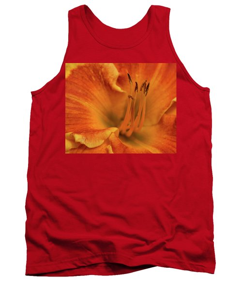 Tank Top featuring the photograph Daylily Close-up by Sandy Keeton