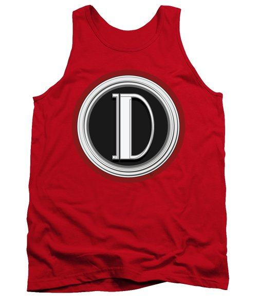 Deco Cafe Marquee  Monogram  Letter D Tank Top