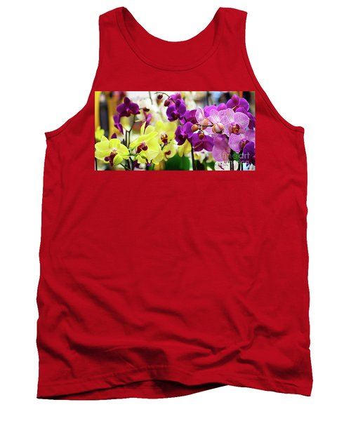 Decorative Orchids Still Life C82418 Tank Top