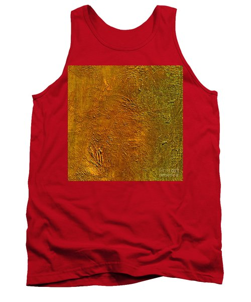 Tank Top featuring the mixed media Deep Gold by Michael Rock