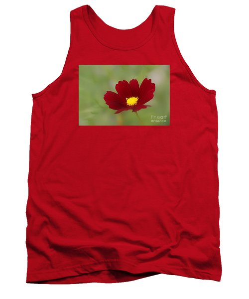 Deep In Red Tank Top by Yumi Johnson
