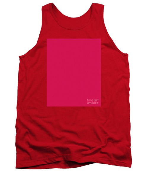 Deep Pink Textured Tank Top