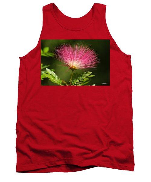 Delicate Pink Bloom Tank Top by Gary Crockett
