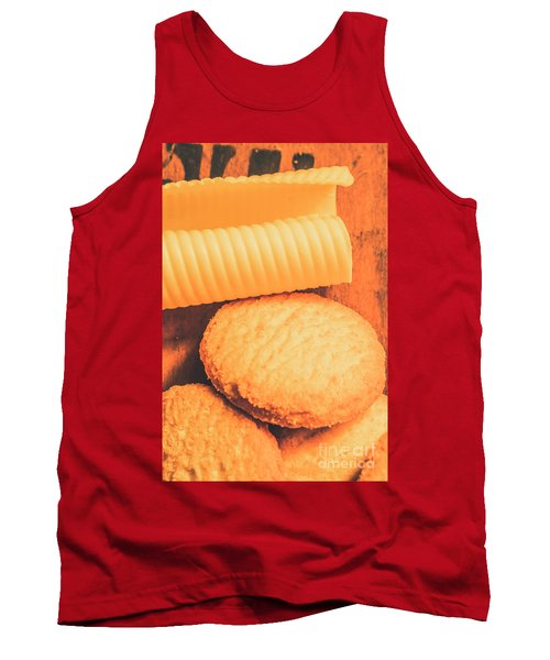 Delicious Cookies With Piece Of Butter Tank Top