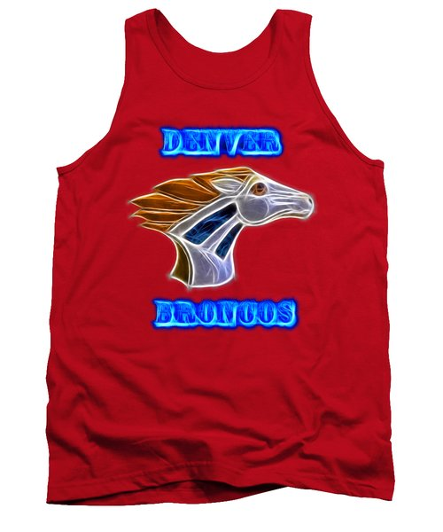 Tank Top featuring the photograph Denver Broncos 2 by Shane Bechler