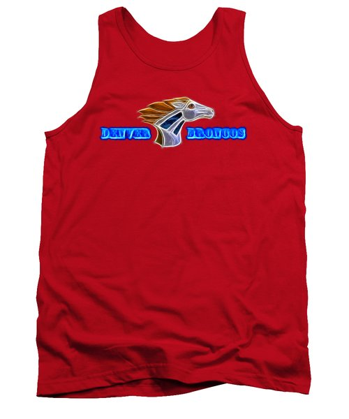 Tank Top featuring the photograph Denver Broncos by Shane Bechler