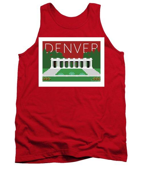 Denver Cheesman Park/maroon Tank Top