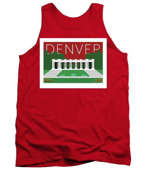 Denver Cheesman Park/maroon Tank Top