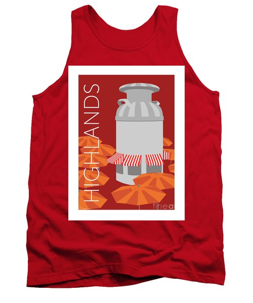 Denver Highlands/maroon Tank Top