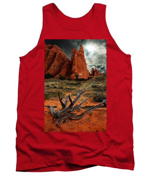 Tank Top featuring the photograph Desert Floor by Harry Spitz