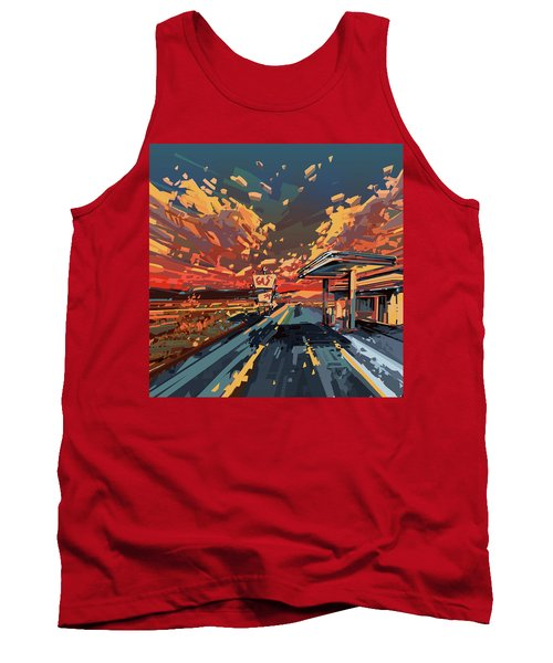 Desert Road Landscape 2 Tank Top by Bekim Art