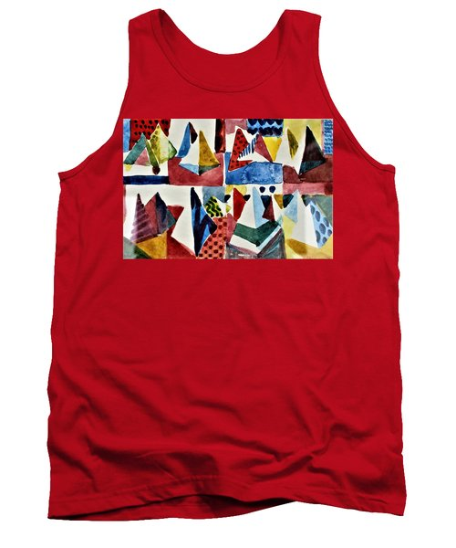 Tank Top featuring the painting Designs For Pyramids by Mindy Newman