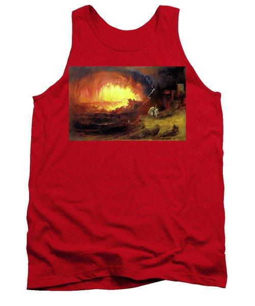 Destruction Of Sodom And Gomorah Tank Top