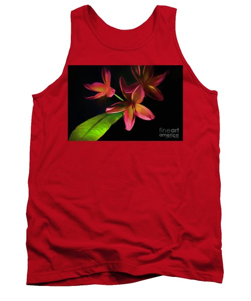Digitized Sunset Plumerias #2 Tank Top