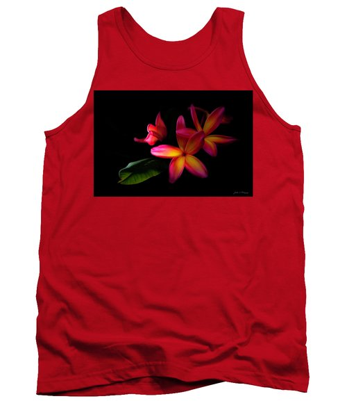 Digitized Sunset Plumerias  Tank Top