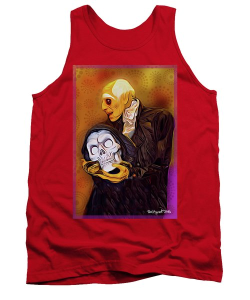 Tank Top featuring the painting Dinner Is Served by Ted Azriel