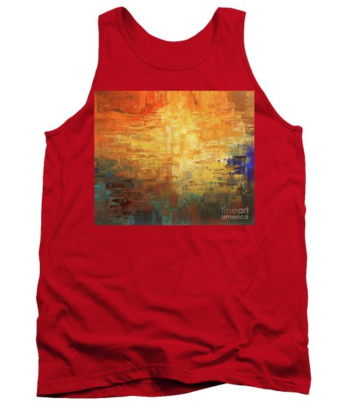 Tank Top featuring the painting Dinosaur Lowlands by Tatiana Iliina