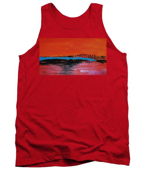 Distant City Tank Top by Haleh Mahbod