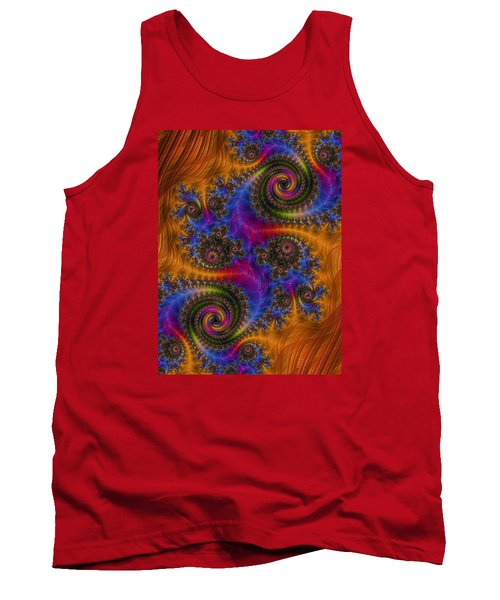 Tank Top featuring the photograph Dizzy Spirals by Ronda Broatch