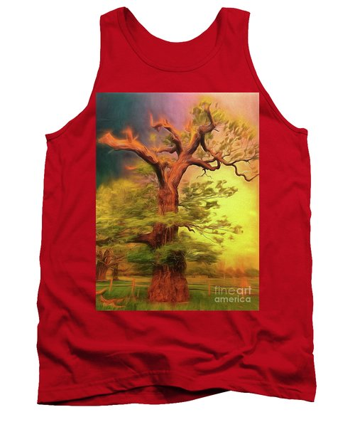 Tank Top featuring the photograph Don't Fence Me In by Leigh Kemp