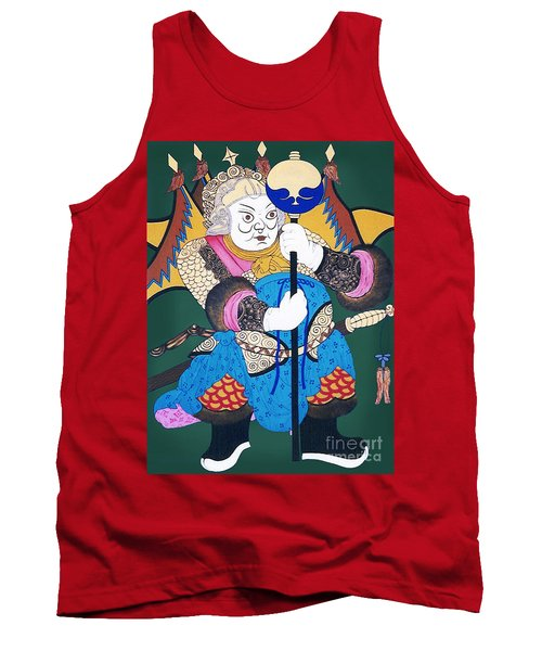 Tank Top featuring the painting Door Guard No.1 by Fei A