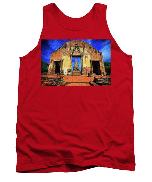 Doorway To Wat Ratburana In Ayutthaya, Thailand Tank Top by Sam Antonio Photography