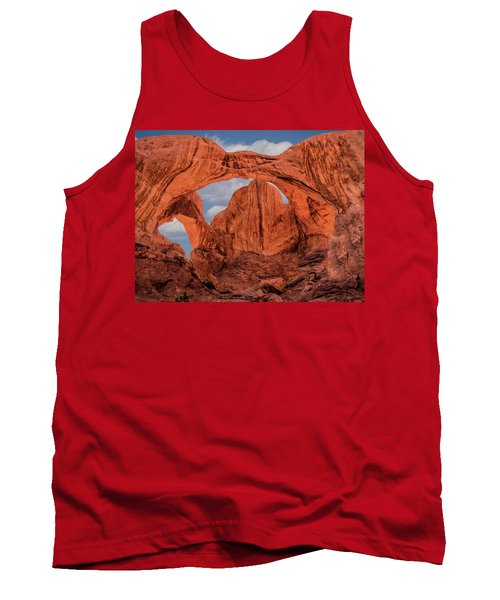 Double Arches At Arches National Park Tank Top by Penny Lisowski