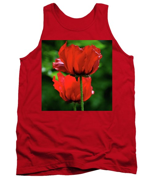 Double Red Poppies Tank Top