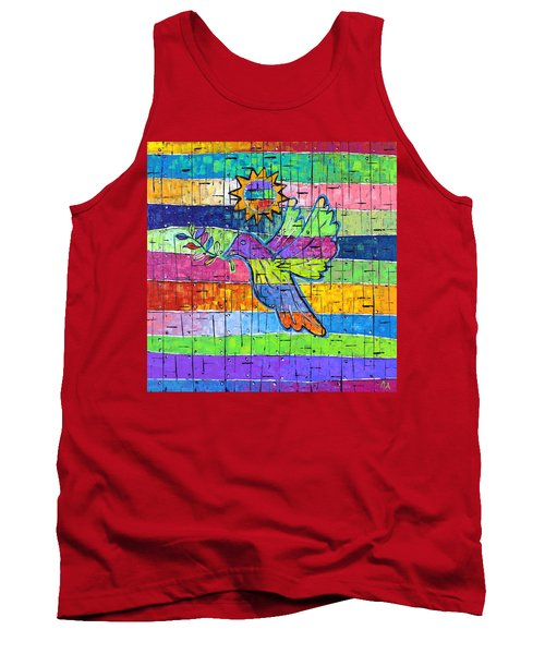 Dove Of Peace, Color And Light Tank Top by Jeremy Aiyadurai