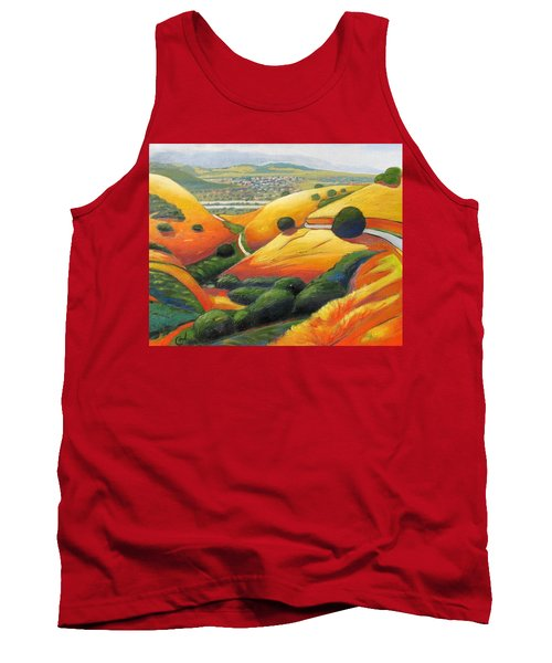 Tank Top featuring the painting Down Metcalf Road by Gary Coleman