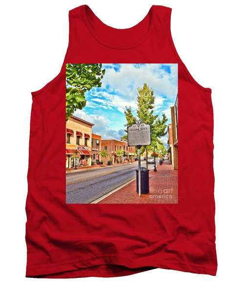 Downtown Blacksburg With Historical Marker Tank Top by Kerri Farley